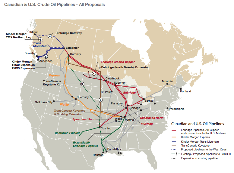 GOOD MAP Of Canada US Oil Pipelines Canadauspipelinemappng - Us pipeline 1950 map