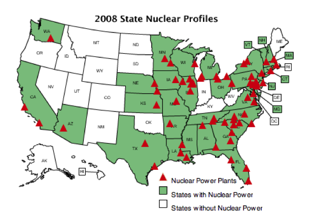 What Would Happen If We Discontinued Nuclear Electricity Our - Map of us nuclear sites