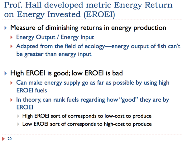 20 Energy Return on Energy Invested