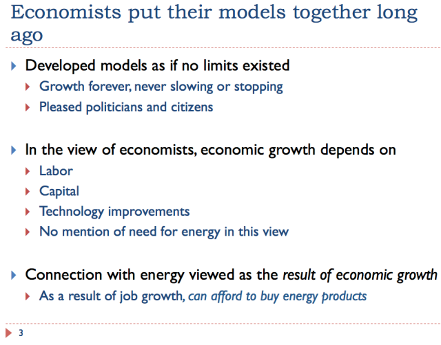 3 Economists put together models