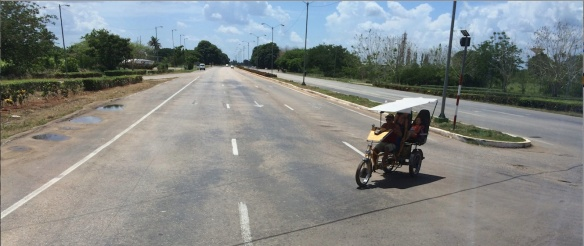 Figure 6. Example of low traffic on road. This road was not far from Havana.
