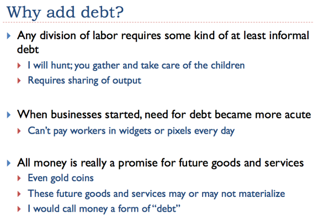 Slide 18 - Why add debt?