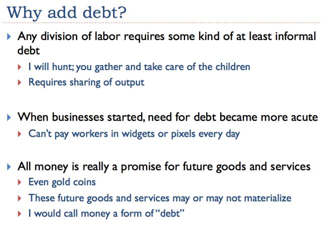 Slide 18 - Why add debt?
