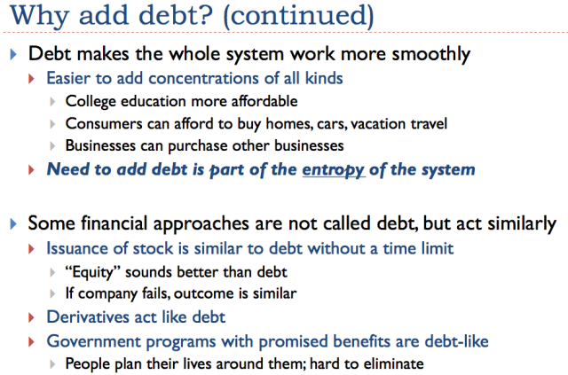 Slide 20. Debt makes the economic system work more smoothly.
