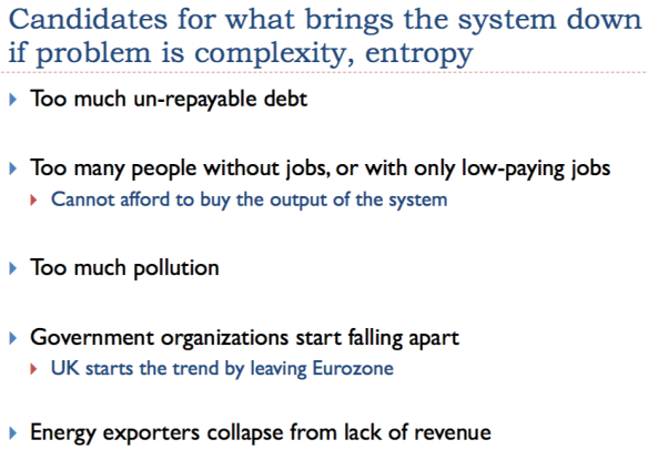 Slide 31. Candidates for what really brings the system down.