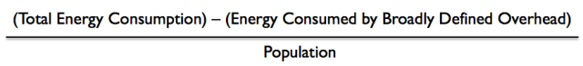 Net energy per capita calculation
