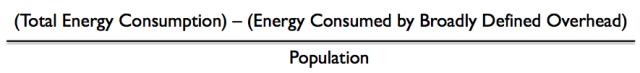 Net energy per capita calculation
