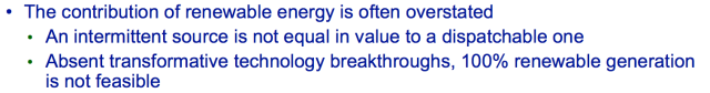 Figure 1. Excerpt from Keynote Address slide at US Energy Administration Conference by Steve Kean of Kinder-Morgan.