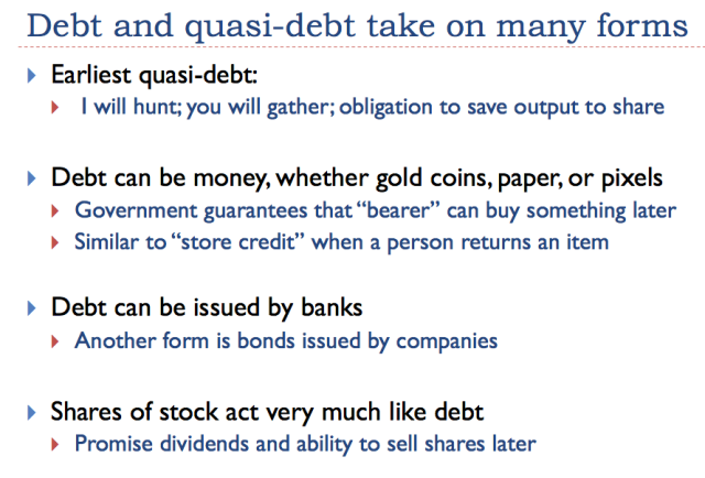 14 debt and quasi debt take on many forms