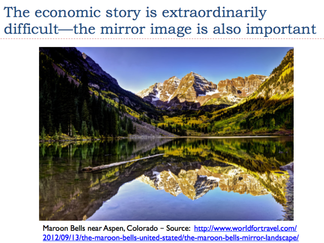 2 the economic story is extraordinarily difficult mirror image also important