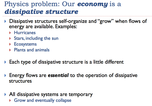 22 our economy is a dissipative structure