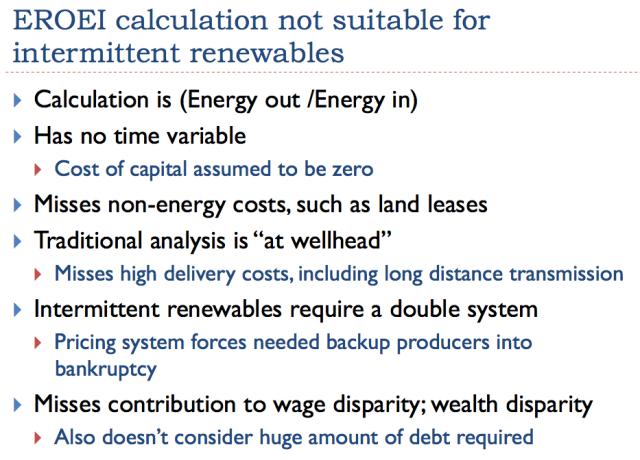 29 eroei calculations not suitable for intermittent renewables