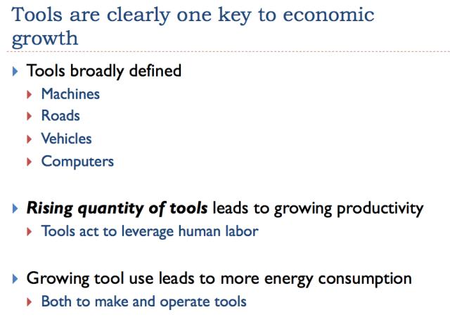 12 tools are one key to econonomic growth
