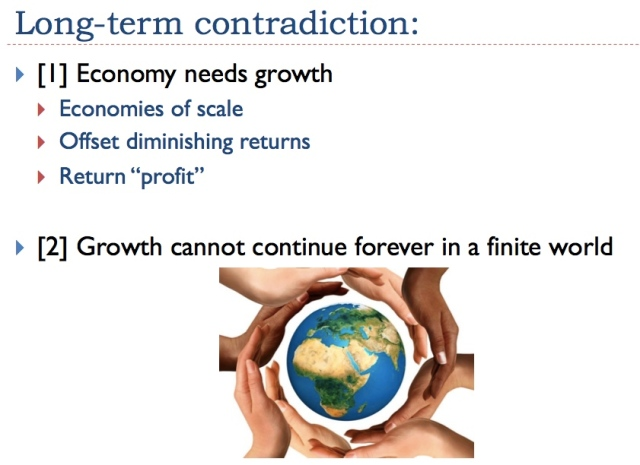 2 long term contradiction growth in finite world
