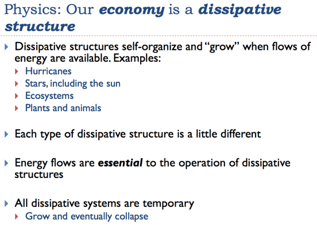 23 our economy is a dissipative structure