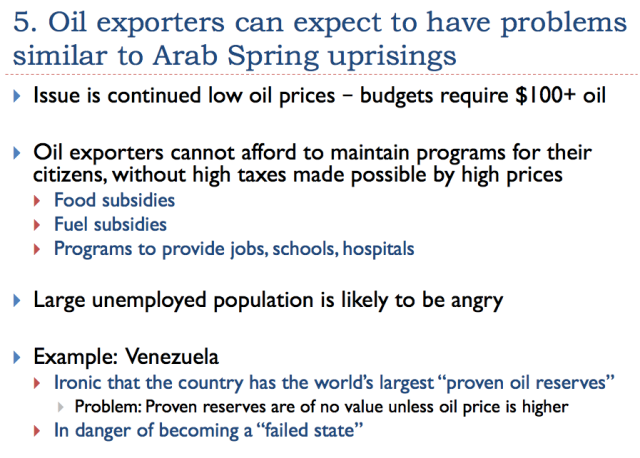 39 oil exporters will have problems