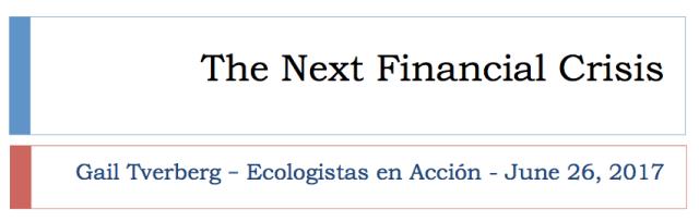 1 the next financial crisis