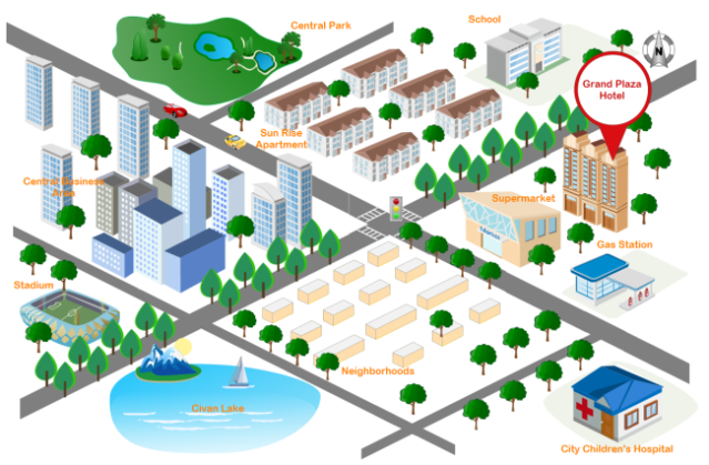 3d street map free from edrawsoft