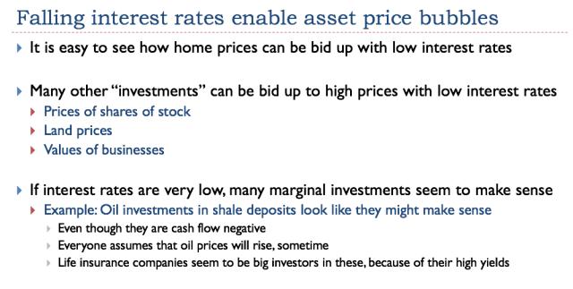 40 falling interest rates enable asset price bubbles