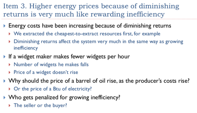 13 Higher energy prices for diminishing returns is like rewarding inefficiency