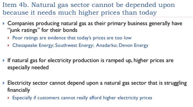 16. Natural gas cannot be depended upon