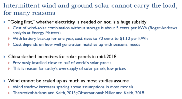 19. Intermittent wind and solar cannot carry the load