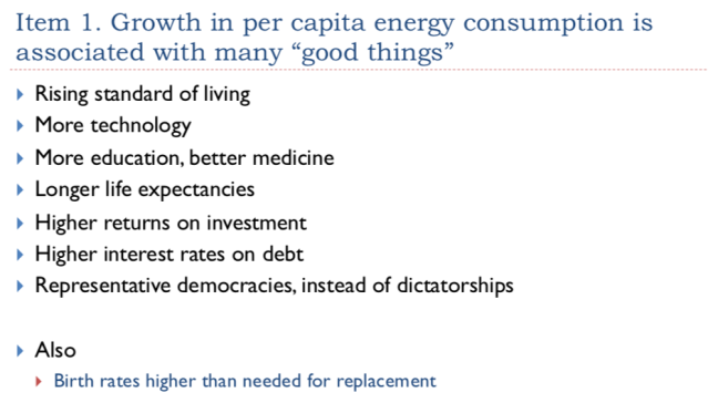 21. Growth in per capita energy consumption is associated with many good things