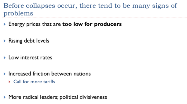 27. Before collapses occur there tend to be many signs