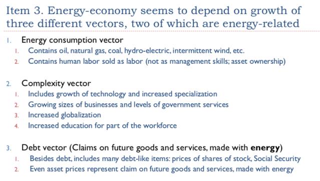 28. Energy economy seems to depend on three vectors