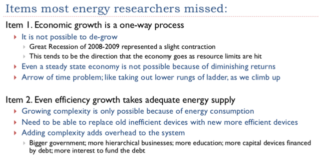 36. Items most energy researchers missed