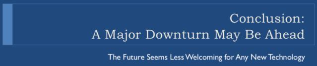 46. A Major Downturn May Be Ahead