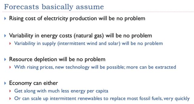 8. Forecasts basically assume 1