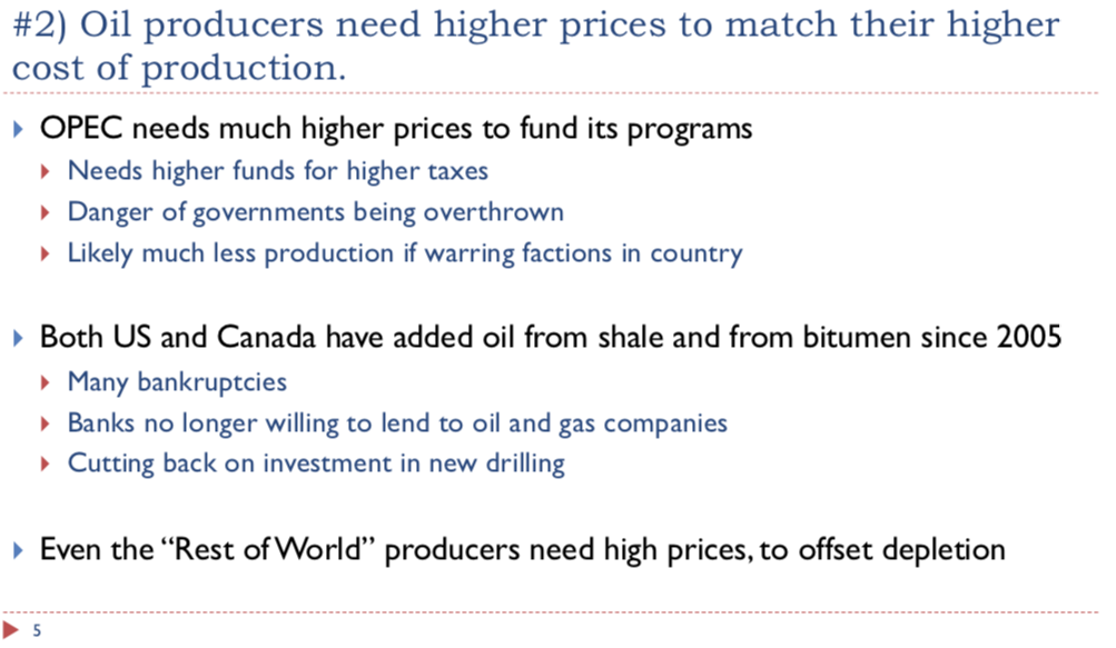 slide 5. oil producers need higher cost of production